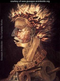The Fire 1566 - Giuseppe Arcimboldo - www.giuseppe-arcimboldo.org