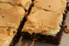 Chocolate Chess Squares- baking as I pin this! ;) Yes, had to have a chocolate fix ASAP