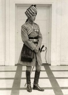 Edward Prince of Wales later Duke of Windsor during a trip to India c. 1920.