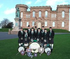 Northern Constabulary Pipe Band - Drummers at Inverness Castle Scotland