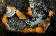 3.6 Gonnardite (Hydrated Sodium Calcium Aluminum Silicate) - Gonnardite, Gmelinite, Natrolite, Analcime Little Deerpark Quarry (Little Deer Park Quarry), Glenarm, Co. Antrim, Northern Ireland, UK
