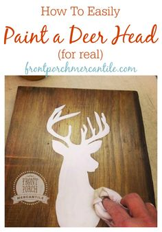 Wow This Is SO Easy To Do, Paint Up A Deer Head Easily With Front