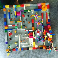 My kids and I love to play with legos! We also love marbles, so naturally we needed to find a way to play with both at… by theneohippy Lego Activities, Activities For Boys, Lego Games, Lego Challenge, Lego Club, Lego Storage, Storage Ideas, Lego For Kids, Lego Room