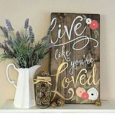 Love these wooden signs.  JellyBird Signs on Etsy!  I've got to learn how to letter like that!!  /cv