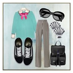 """""""Turquoise"""" by andreolam on Polyvore featuring John-Richard, Gucci, Etro, Vans, Aspinal of London, Acne Studios and Disney"""