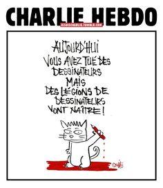 Tous debout le crayon à la main  #JeSuisCharlie