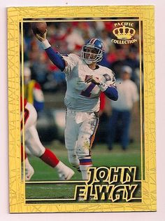 0c781da3 95 PACIFIC RARE JOHN ELWAY GEMS OF THE CROWN INSERT #DenverBroncos John  Elway, Sports