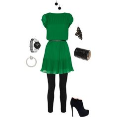 Green, created by dbomb.polyvore.com