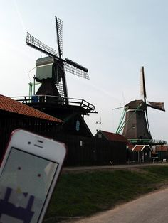 The sweetest windmills.  Zaanse Schans, Netherlands