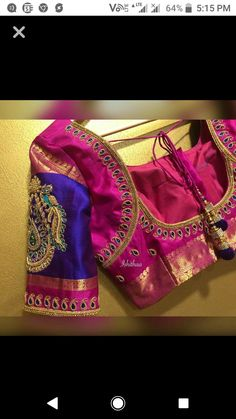 designer blouse whatsapp on 919511613559 to order the outfit 2 Kids Blouse Designs, Simple Blouse Designs, Blouse Back Neck Designs, Wedding Saree Blouse Designs, Silk Saree Blouse Designs, Maggam Work Designs, Designer Blouse Patterns, Maggam Works, Sarees
