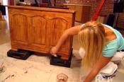 Distressing a Paint Finish-steel wool, oil paint, bri wax, and varnish