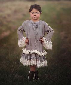 Look what I found on #zulily! Gray Hattie Dress - Toddler & Girls #zulilyfinds