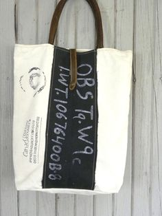 Upcycled Canvas Tote Bag