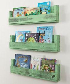 Sweet Mint Shabby-Chic Bookshelf - Set of Three