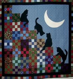 """Stairway to Cat Heaven"" by Marty Mason, including link to free pattern originally published in McCall's Quilting"