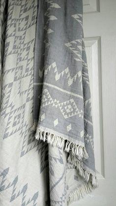 Bohemian Blanket Throw -Native American Design throw - Picnic Blanket - Gypsy Fashion Blanket - Double sided throw - Bohemian Bedroom ideas