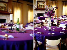 Great vineyard purple centerpiece