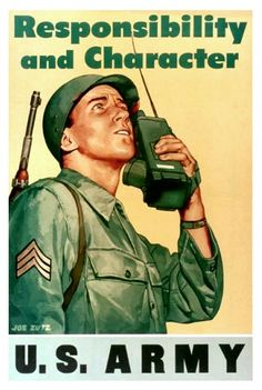 WWII U.S. Army recruiting poster.