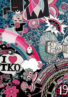 Limited Edition Art Print Framed Title: Love Tokyo by rukin