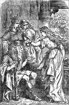 Idunna distributes her rejuvenating apples amongst the gods