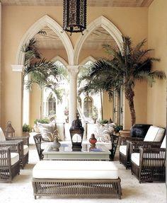 Potted Palms - British West Indies veranda