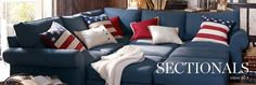 I seriously LOVE denim sofas!  I don't know why, but I do <3 Pottery barn is the inspiration for my denim sofa. :)