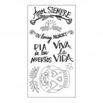 Sizzix Clear Stamps - Day of the Dead