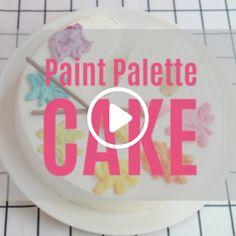 Paint Palette Cake Decorating Tutorial
