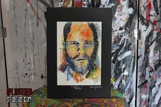Joss Whedon Water Colour Painting Drawing - Splintered Studios - The Art of Stephen Quick