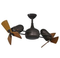 """Matthews Fan Company DG-TB-WD Atlas Dagny 41"""" Dual Rotational Ceiling Fan with Hand-Held Remote and Wood Blades"""