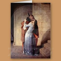 The Kiss, Romantic Greeting Card from Zazzle.com