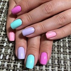 Gel nail designs has increased and has become one of the most popular applications of artificial nails. You can choose from a variety of nail designs, including simple and [Read the Rest] → Pretty Nails For Summer, Summer Nails, Bright Summer Gel Nails, Gradient Nails, Purple Nails, Galaxy Nails, Nail Polish Designs, Nail Designs, Hair And Nails