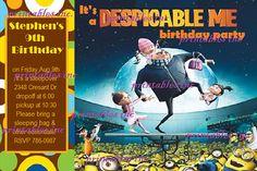despicable me Invitation Birthday Party Invite invitations movie party supplies minions