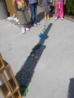 The children test their theory- Shadows Move when the Sun Moves