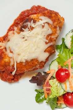 #Epicure Super Simple Chicken Parmesan—A lightened-up version of the classic Italian chicken dinner.