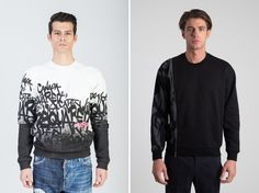 Right or left? Invest in a quality sweater now! Right: left: Luxury Fashion, Mens Fashion, Fall Winter 2015, Sweater Cardigan, Fashion Online, Menswear, Key, Sleeves, Sweaters