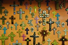 I'm well on my way to my golden wall filled with Mexican crosses~! But I need moar