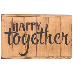 American Made Rustic Wood Reminder - Happy Together ($23) ❤ liked on Polyvore featuring home, home decor, rustic wood floor mirror, american home decor, heart home decor, inspirational home decor and rustic wood home decor