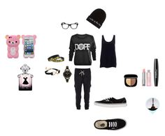 """Day in/out, sport"" by nanouh on Polyvore featuring mode, Wet Seal, JFR, Marc Jacobs, Guerlain, Vans et FOSSIL"