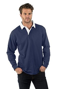 42f7f1d3ab2 Bruntwood Premium Long Sleeve Rugby Shirt - 280GSM - Cotton/Polyester:  Amazon.co.uk: Clothing