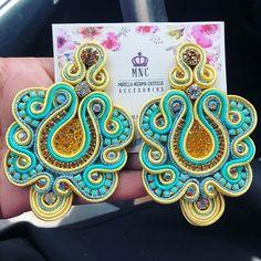 Soutache Jewelry, Bead Jewellery, Jewelery, Bangles, Bracelets, Shibori, Jewelry Making, Detail, Nice