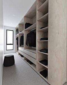 46 Dream Walk In Closet Designs For Organized Home Wardrobe Behind Bed, Wardrobe Design Bedroom, Bed In Closet, Master Bedroom Closet, Bedroom Wardrobe, Black Wardrobe Closet, Build In Wardrobe, Walk In Closet Ikea, Walk In Robe Designs