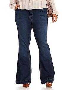 Plus Size Flare Jeans