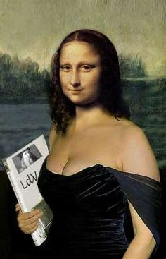 Mona Lisa: Mona Lisa and Her Book by Oscar Brown More Pins Like This At : FOSTERGINGER @ Pinterest.