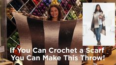 Can you believe this throw is made from 5 scarves!? If You Can Crochet a Scarf, You Can Make This Throw!
