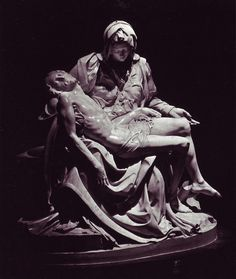 Michaelangelo's Pieta in St. Peter's in Vatican City--I've touched the foot of Jesus on this statue. Everyone use to touch it, but then they moved it to an inexcessible spot.