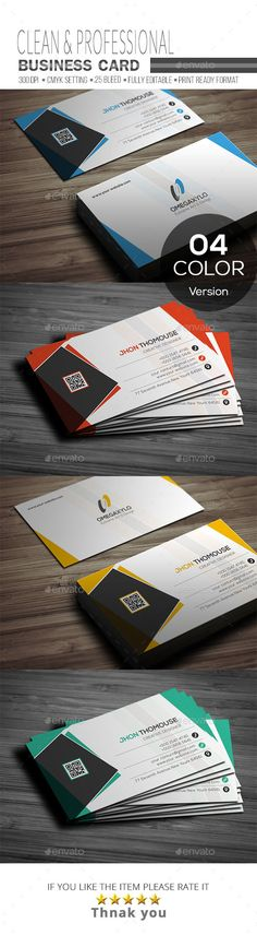 #Business #Card - #Corporate Business Cards Download here: https://graphicriver.net/item/business-card/19263734?ref=alena994