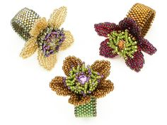 Bead Show: Bead Show Workshops & Classes: Monday June 3, 2013: B131817 Rings in Motion: Flower Power by Cynthia Rutledge