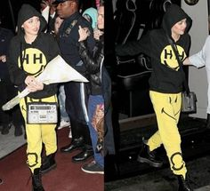 Miley Cyrus rockin' the Happiness for Smiley London sweats!
