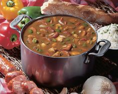 The seasons are changing and the temperatures will soon be cooling down, and that can only mean one thing in Louisiana and throughout the south—gumbo season! October is the unofficial start of gumbo season, and soon, big pots of flavorful soup will simmer in almost every kitchen. One of the best gumbos was made by … Cajun Recipes, Healthy Soup Recipes, Cooking Recipes, Gumbo Recipes, Louisiana Recipes, Creole Recipes, Chili Recipes, Spicy Gumbo Recipe, Ninja Recipes